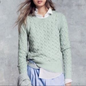 J Crew Honeycomb sweater, Mint